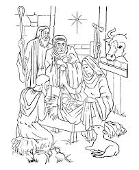 Coloring Pages Nativity Rollingmotorsinfo