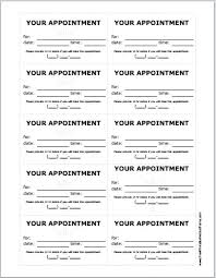Appointment Cards Template Word 17 Appointment Cards Template Word Tikir Reitschule Pegasus Co