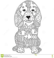 Small Picture Dog Adult Antistress Or Children Coloring Page Stock Vector