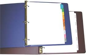 Image result for 3 ring binder paper dividers clipart