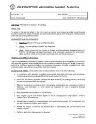 Accounting Assistant Job Description Fascinating JOB DESCRIPTION Administrative Assistant Accounting