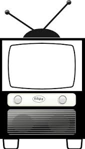 tv clipart black and white. rg 1 24 antique television black white line art scalable vector graphics svg tv clipart and