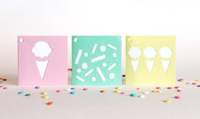 Folding Gift Tags Ice Cream Folded Gift Tags Set Of 6 Sherbet