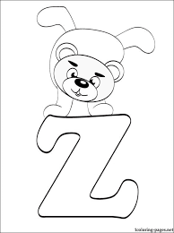 Small Picture Letter Z coloring page Coloring pages