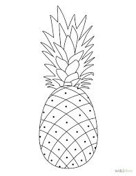 pineapple drawing. draw a pineapple drawing s