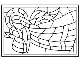 Kerst Glas In Lood Met Engel Kleurplaat Gratis Kleurplaten Printen