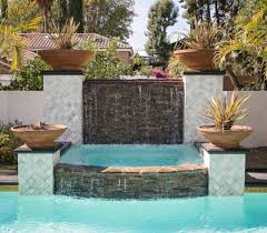 natural stacked stone for elegant pool