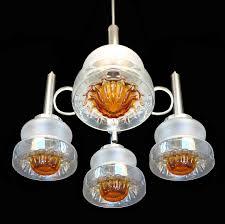 mid century modern mid century modernist murano mazzega amber art glass italian chrome chandelier