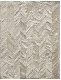yves ivory cowhide rug