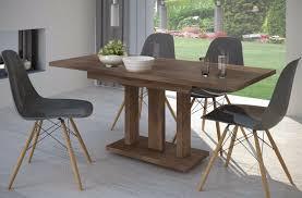 Säulentisch Nußbaum Esstisch Ausziehbar Holz Edler Auszugtisch
