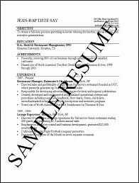 Restaurant Manager Resume Samples Pdf One Job Resume Examples Free ...