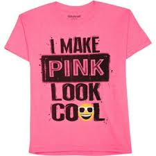How To Make A Cool Shirt Boys I Make Pink Look Cool Emoji Short Sleeve Graphic Crew T Shirt