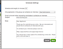 Thank You For Scheduling The Interview Scheduling Wizehive Support