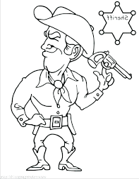 Cowboy Boot Coloring Pages Printable For Adults Hat Cartoon Kids