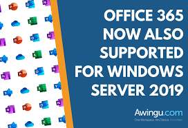 Windows 365 Office Office 365 Now Also Supported For Windows Server 2019 Awingu