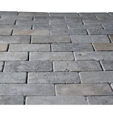 Travertine Tile For Kitchen Silver Travertine 2x4 Tumbled Mosaic Tile Mosaic Kitchen Tiles