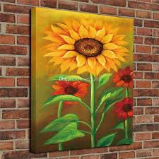 hd prints modern giclee print art home decor sunflower oil painting wall art canvas poster picture unframed art print paintings poster with