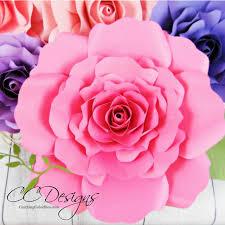 Diy Giant Paper Rose Flower Eden Style Giant Paper Rose