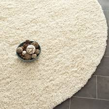 safavieh california cozy solid ivory shag rug 4 round california shag black 4 ft