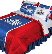 nba la clippers comforter set basketball team logo bedding king