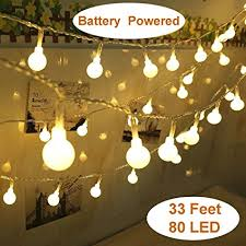 indoor string lighting. Yesee 33FT 80 Leds Battery Operated LED String Lights, Outdoor / Indoor Lights Fairy Lighting