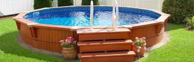 round semi inground pool