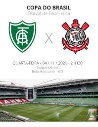 América-MG x Corinthians: veja onde assistir, escalações, desfalques e  arbitragem | copa do brasil