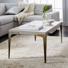 brass concrete coffee table west elm uk frame