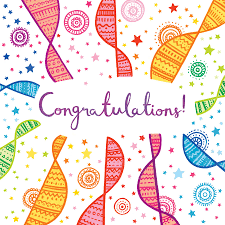A Bright Patterned Congratulations Card By Emma Randall Illustration