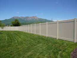 Not your average fencethis is a High Wind fence Vinyl Fence