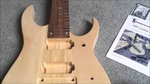 diy 7 string guitar kit unboxing review ibanez style from bargainian com you
