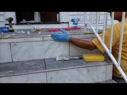how to install tile on an outdoor stairs patio part 2 install tiles on outside corner