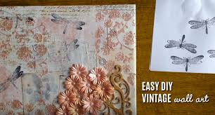 >vintage wall art made easy diy mixed media canvas