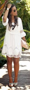 White Lace Summer Dress Australia