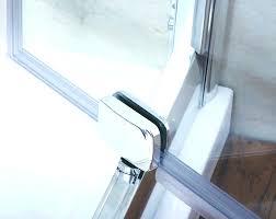 shower door bulb seal glass