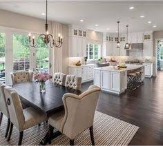lighting for dining area. Love The Open, Clean Bright Area - Maybe Sheer Curtains On Windows For Privacy But Still Letting In Light? Home Decor Styles Lighting Dining R