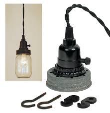 mason jar pendant lighting. Mason Jar Pendant Light Kit Industrial Farmhouse Style Lighting