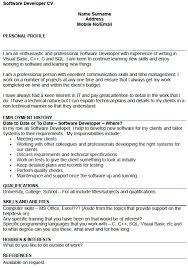 Gallery Of Skill Resume Free Software Developer Resume Sample Web