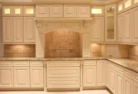 Maple Wood Cool Mint Amesbury Door Cream Colored Kitchen Cabinets  Backsplash Cut Tile Ceramic Laminate Countertops Sink Faucet Island  Lighting Flooring