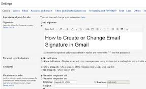 How To Create Or Change Email Signature In Gmail Logixsnag