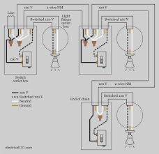2 way light switch wiring diagram house electrical outstanding for two lights on one switch with the power at the fixture at Household Wiring Diagrams Multiple Lights