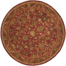 safavieh antiquities collection at52e handmade traditional oriental red wool round area rug