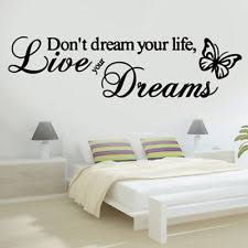 live your dreams butterfly love quote wall stickers bedroom removable decals diy on art deco style wall decals with buy butterfly vinyl art deco style wall decals stickers ebay