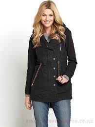 womens superdry jackets parka winter coats womens coats colour black hooded aztec