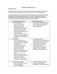 Development Intern Job Description- 2015 - The International ...