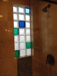 bathroom remodel custom marble tile colored glass block shower window toledo
