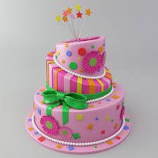 Celebration Cake 3d Model Cgtrader