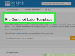 How To Create Labels In Microsoft Word With Pictures Wikihow