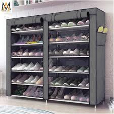 6 tier double cabinet shoe rack storage cabinet organizer k66