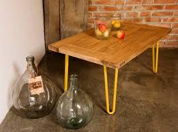 gie el yellow hairpin leg coffee table